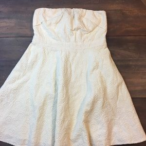 Pins and Needles Ivory Eyelet Cotton Anthro Dress